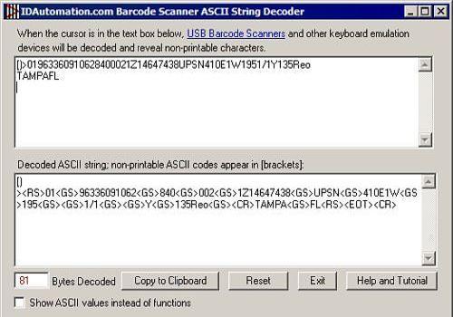 Download Barcode Scanner ASCII String Decoder for Windows | Freeware
