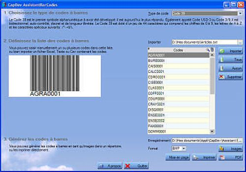 Download Assistant Bar Codes for Windows | Freeware