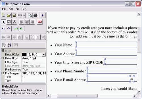 Miraplacid Form Professional