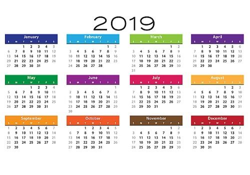 Calendrier 2019 Free.Download Calendrier 2019 Simple Image For Windows Freeware