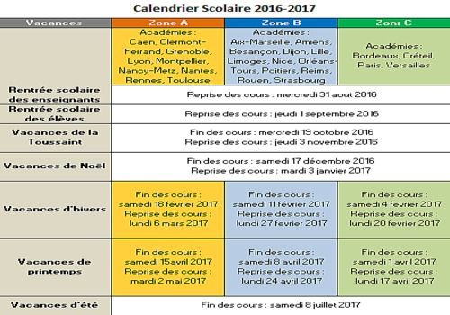 Lille 3 Calendrier.Download Calendrier Vacances Scolaires 2016 2017 2017 For