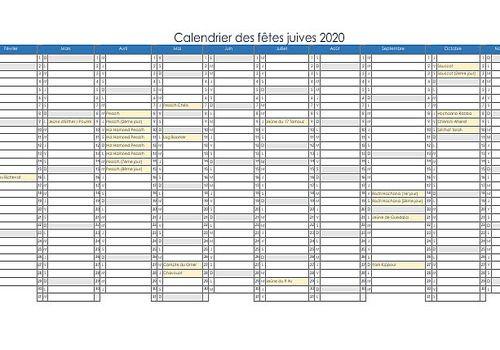 Calendrier Hebraique 2020.Telecharger Calendrier Juif 2018 2019 Pour Windows Freeware