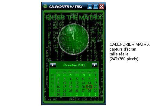 Calendrier Matrix