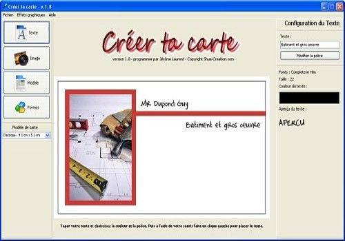 Télécharger Créer Ta Carte Pour Windows Shareware