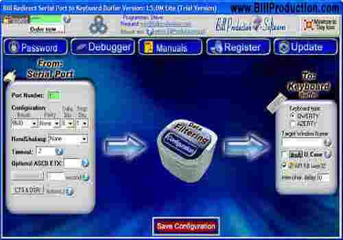 Download Redirect serial port RS232 to Keyboard for Windows