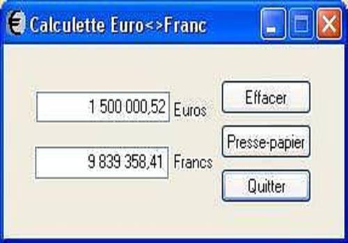 TELECHARGER CONVERTISSEUR EURO EN MGF