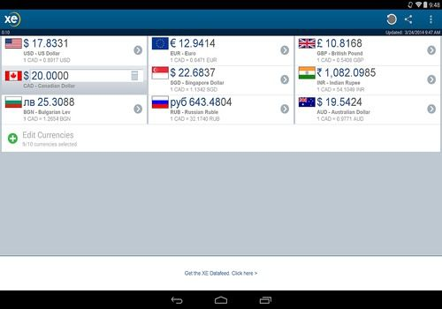 XE Currency Android