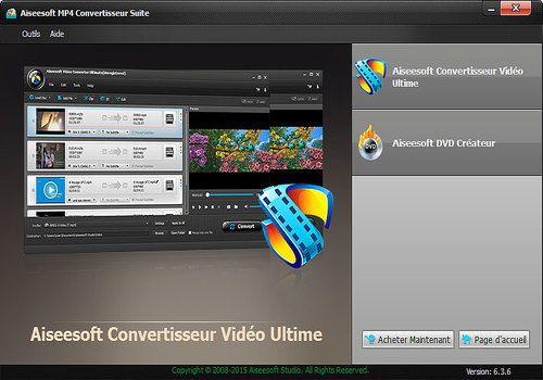 Aiseesoft MP4 Convertisseur Suite