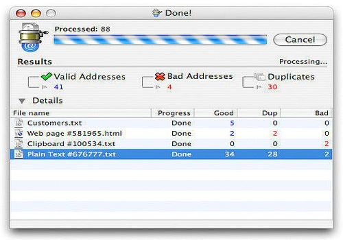 eMail Extractor X pour Mac