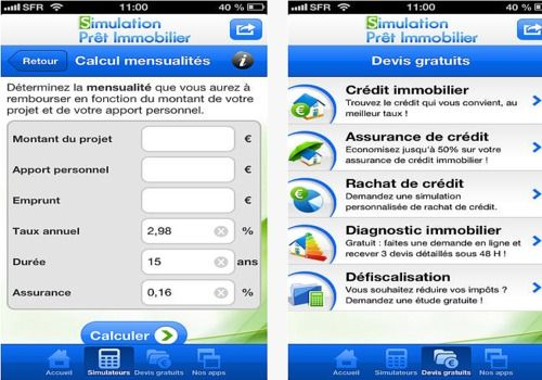 Simulation Prêt Immobilier iOS