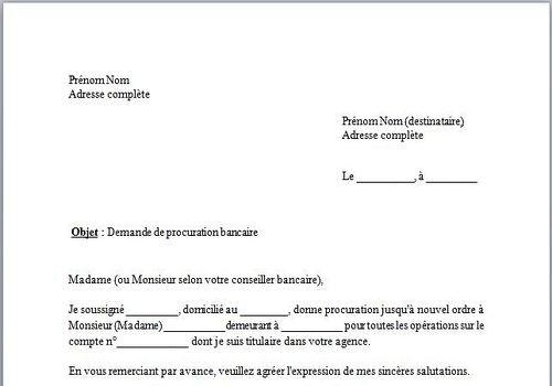download mod u00e8le de lettre procuration bancaire for windows