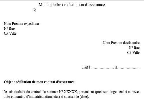 Download Modèle De Lettre De Résiliation D Assurance For