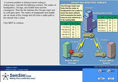 SemSim CCNA 640-802 Certification Exam Training