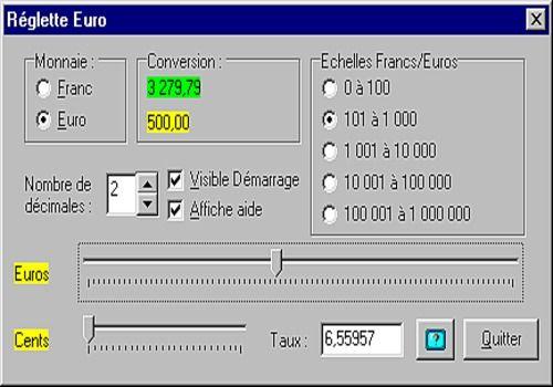 Download Reglette Euro For Windows Freeware