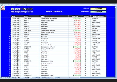 BUDGETRAKER - Excel®