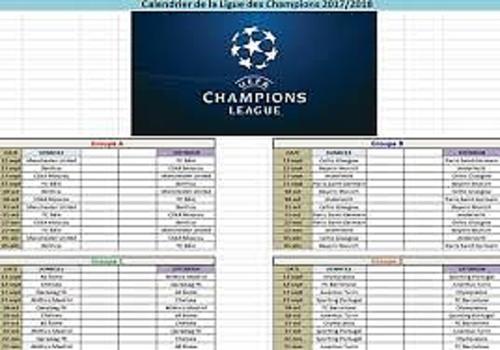 Champions League 2019 Calendrier.Download Calendrier Ligue Des Champions 2017 2018 2017 2018