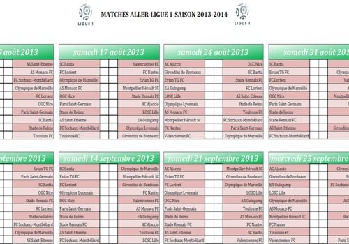 Foot Calendrier Ligue 1.Download Calendrier Ligue 1 2013 2014 Pdf For Windows Freeware