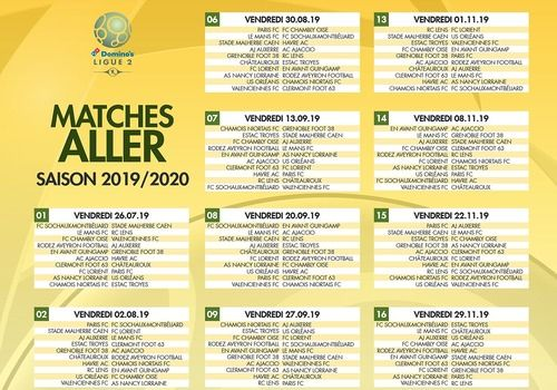 Calendrier Coupe Du Monde 2020 Excel.Download Calendrier Ligue 2 Pdf 2019 2020 1920 For Windows