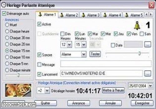Wonderbaar Télécharger Horloge Parlante Atomique 4.0.0 pour Windows | Freeware GU-22