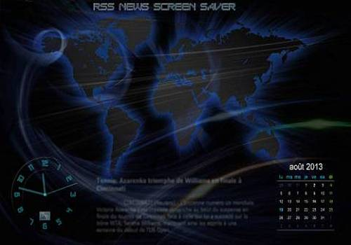 RSS News Screen Saver