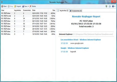 Download Revealer Keylogger Free Edition 2 05 for Windows