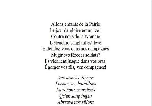 Paroles de la Marseillaise Word