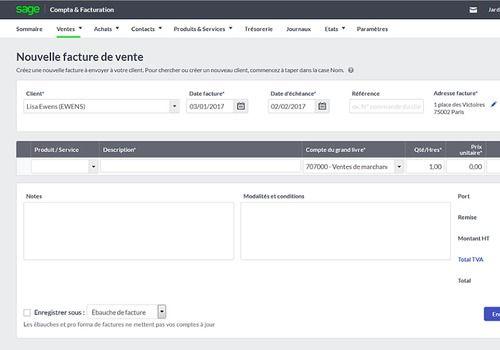 Sage Business Cloud Compta & Facturation
