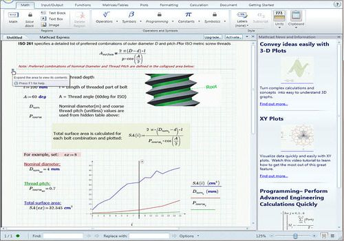 PTC Mathcad Express 3.1
