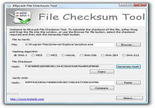 File Checksum Tool