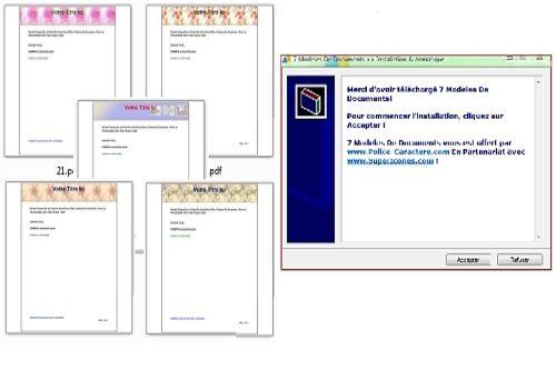 t u00e9l u00e9charger pack 7 mod u00e8les de documents pour windows