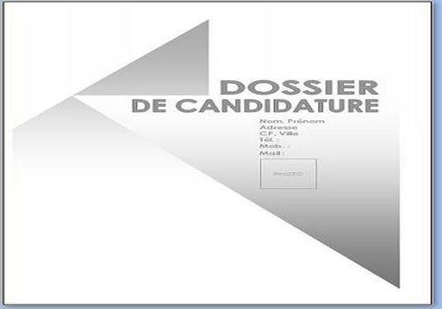 t u00e9l u00e9charger page de garde dossier de candidature pour
