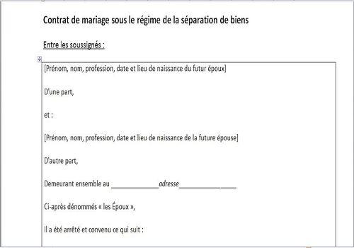 t u00e9l u00e9charger mod u00e8le de contrat de mariage pour windows