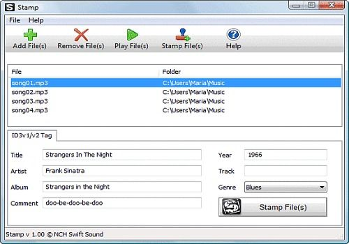 Download Stamp ID3 Tag Editor for Windows | Freeware