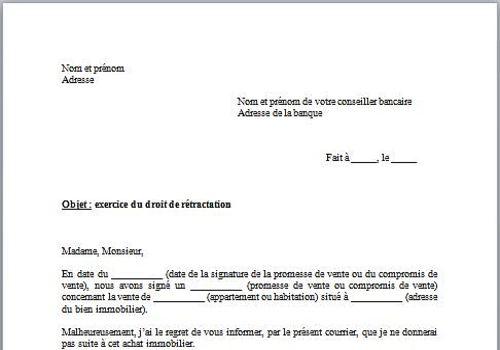 Downloaden Modele De Lettre De Retractation D Achat