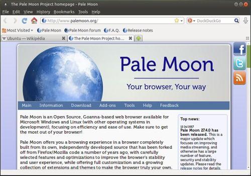 Pale Moon Linux
