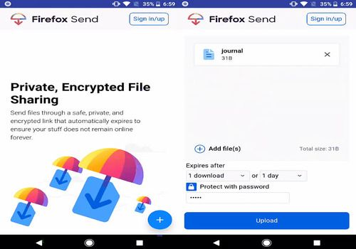 Télécharger Firefox Send Android | Google Play