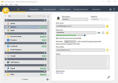 Download Steganos Password Manager 21 21 for Windows | Shareware