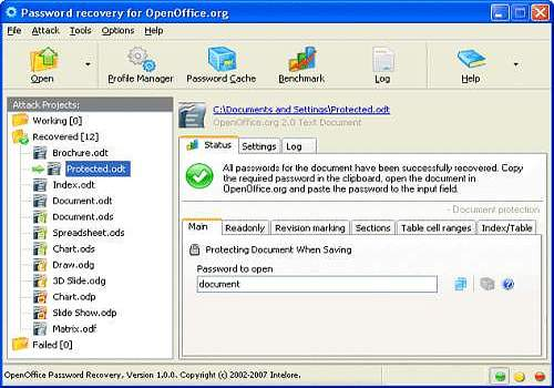 Download OpenOffice Password Recovery for Windows   Shareware