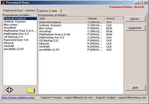 Download Password Door (Français) for Windows | Shareware