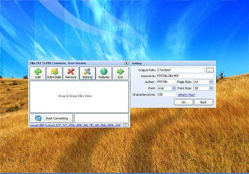 Download Zilla TXT To PDF Converter for Windows | Freeware