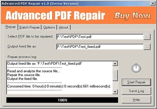 Download Advanced PDF Repair for Windows | Demo