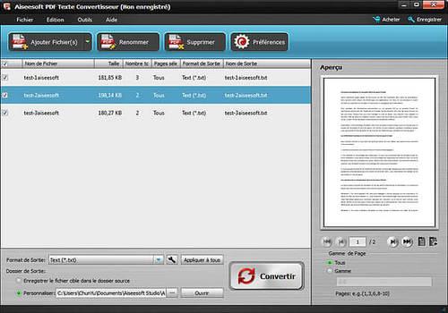 Aiseesoft PDF Texte Convertisseur
