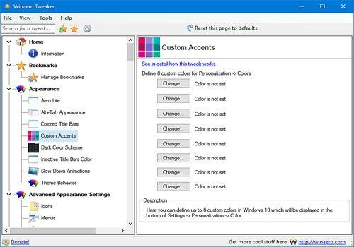 Download WinAero Tweaker for Windows | Freeware