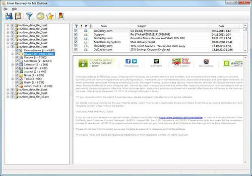 Email Recovery for MS Outlook
