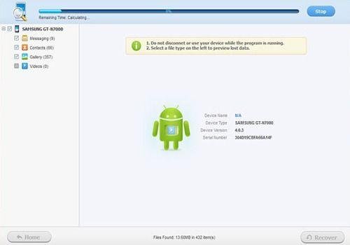 Récupérateur de données Android
