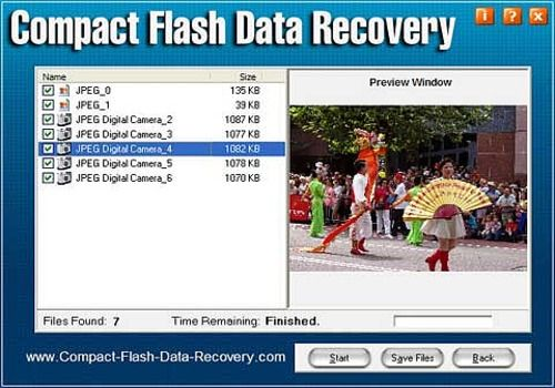 Compact Flash Data Recovery