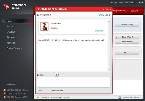 Comodo Back Up