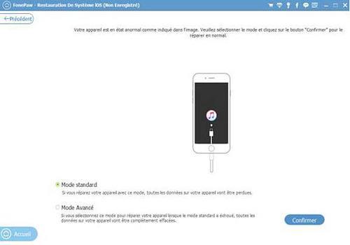 FonePaw - Restauration De Système iOS
