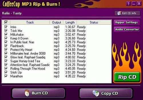 CoffeeCup MP3 Ripper & Burner