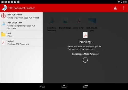Scanner de documents PDF Android